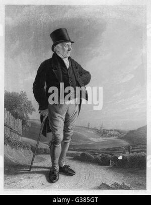 THOMAS BEWICK  English illustrator and wood  engraver.       Date: 1753 - 1828 - Stock Photo