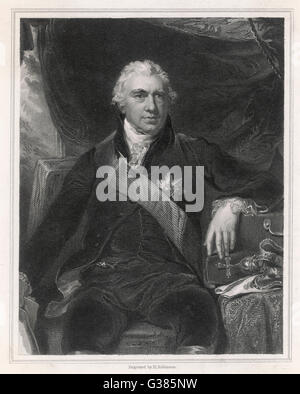 SIR JOSEPH BANKS (1743-1820) Naturalist        Date: circa 1790 - Stock Photo