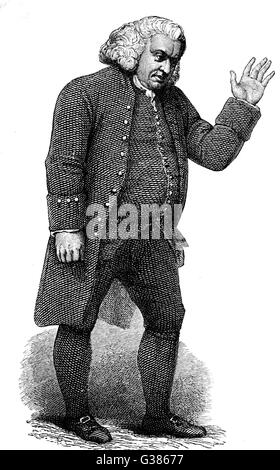 DR SAMUEL JOHNSON  Writer and lexicographer        Date: 1709 - 1784 - Stock Photo