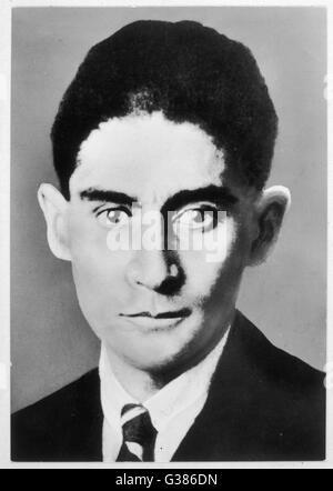 FRANZ KAFKA  Czech writer        Date: 1883 - 1924 - Stock Photo