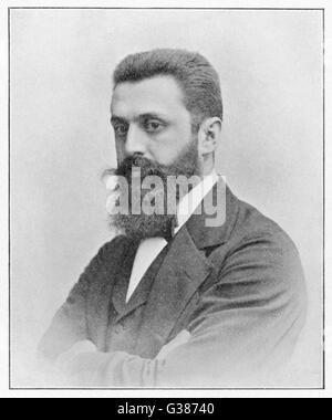 THEODOR HERZL  Hungarian Zionist leader        Date: 1860 - 1904 - Stock Photo