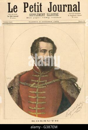 LAJOS KOSSUTH  Hungarian patriot and statesman       Date: 1802 - 1894 - Stock Photo