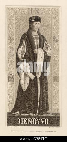 King Henry VII  (1457 - 1509) - Stock Photo