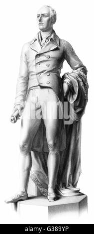 WILLIAM PITT THE YOUNGER  English politician  A statue      Date: 1759 - 1806 - Stock Photo