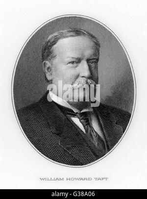 WILLIAM HOWARD TAFT  27th US President (1909-13).       Date: 1857 - 1930 - Stock Photo