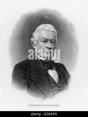 MILLARD FILLMORE  13th American President (1850-53).       Date: 1800 - 1874 - Stock Photo