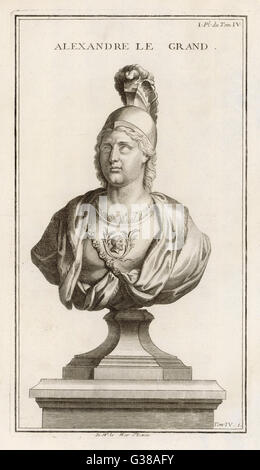 ALEXANDER THE GREAT          Date: 356 - 323 BC - Stock Photo