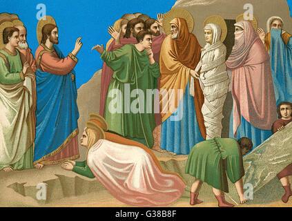 He restores Lazarus to life - Stock Photo