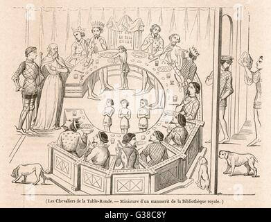 Les Chevaliers De La Table Ronde 1937 Sketch For 39 The Knights Of The Stock Photo Royalty Free