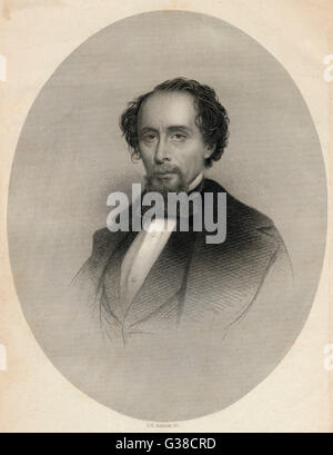 CHARLES DICKENS  Dickens in 1858.        Date: 1812 - 1870 - Stock Photo