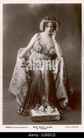 MAUD ALLEN Actress and dancer, as Salome         Date: 1780 - Stock Photo