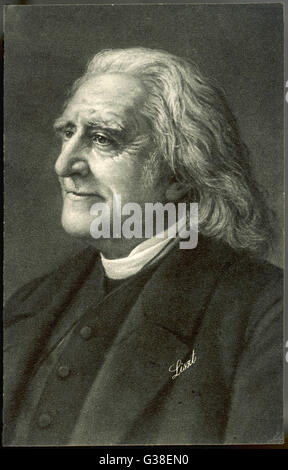 FRANZ LISZT  the Hungarian musician in old  age with a benign smile on his  face      Date: 1811-1886 - Stock Photo
