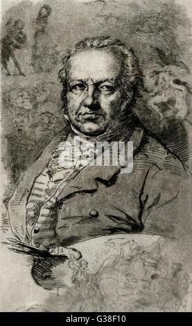 FRANCISCO JOSE DE GOYA   Spanish artist        Date: 1746 - 1828 - Stock Photo