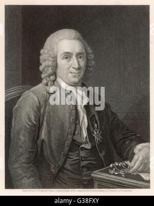 CARL VON LINNE, ka LINNAEUS  Swedish naturalist        Date: 1707-1778 - Stock Photo