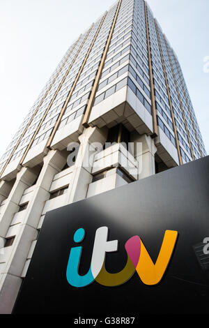 London, UK. 9th June, 2016. ITV studios, which hosted the debate between Boris Johnson, Andrea Leadsom and  Gisela - Stock Photo