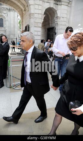 Sadiq Khan and Saadiya, 'London Mayor' in London, Britain, UK - Stock Photo