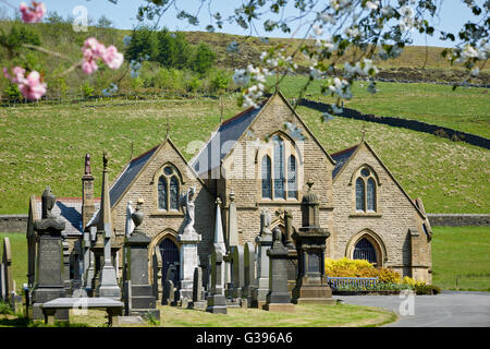 HASLINGDEN CEMETERY Grane Road   small chapel building Cemetery is the youngest and smallest cemeteries  under 6 - Stock Photo