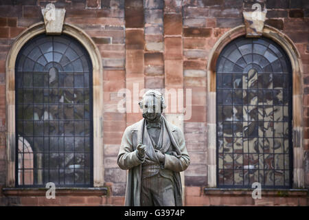 statue of Cobden is in St Ann's Square in Manchester Richard Cobden an English manufacturer and Radical and Liberal - Stock Photo