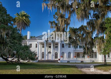 Plum Orchard Mansion on Cumberland Island National Seashore in Georgia. - Stock Photo