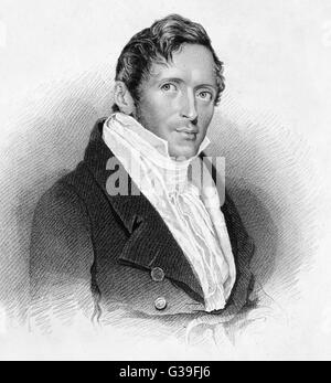 Sir THOMAS STAMFORD RAFFLES  Colonial administrator        Date: 1781 - 1826 - Stock Photo