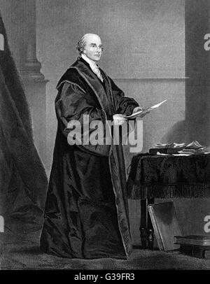 JOHN JAY  American statesman, first  Chief Justice of the United  States      Date: 1745 - 1829 - Stock Photo