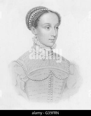 MARY, QUEEN OF SCOTS (1542 - 1587) When Dauphiness of France - Stock Photo
