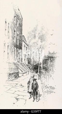 CHARLES LAMB  Elia Cottage, Islington        Date: 1775 - 1834 - Stock Photo