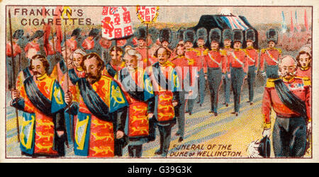 The Duke of Wellington is  given a state funeral of  unsurpassed magnificence        Date: 18 November 1852 - Stock Photo
