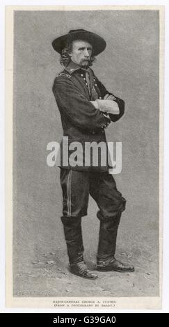 GEORGE A CUSTER  American army officer, killed  in the battle of Little  Bighorn, 1876      Date: 1839-1876 - Stock Photo