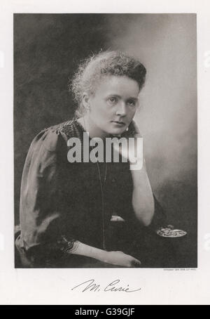 MARIE CURIE  Polish scientist.     1867-1934 - Stock Photo