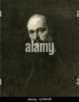 DANTE GABRIEL ROSSETTI  Poet and Pre-Raphaelite  artist       Date: 1828 - 1882 - Stock Photo