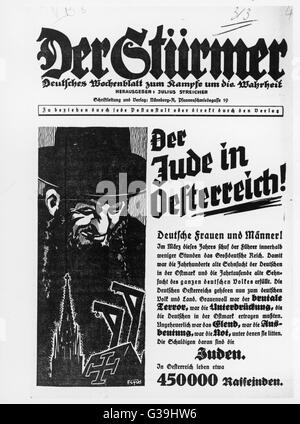 The Fuhrer's new Third Reich  was set up in March and it  will fulfill the German desire  to rid Austria of the - Stock Photo