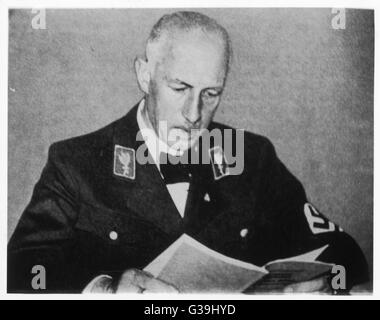 WILHELM FRICK Jurist and one of Hitler's  closest comrades.  Appointed  Chancellor in 1933, and then  Reich Minister - Stock Photo