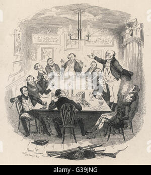Mr Pickwick addresses the Club        Date: First published: 1836-37 - Stock Photo
