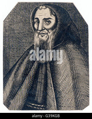 GEOFFREY CHAUCER (1340 - 1400) English poet, writer of  The Canterbury Tales - Stock Photo