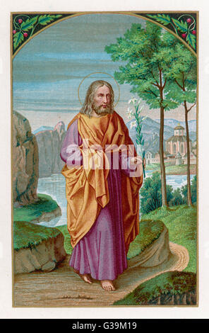 SAINT JOSEPH husband of Mary, and  stepfather of Jesus of  Nazareth       Date: 1st century - Stock Photo