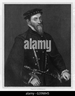 SIR THOMAS GRESHAM  English financier who built  the Royal Exchange and  founded Gresham College       Date: 1519 - Stock Photo