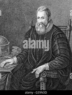 JOHN NAPIER Laird of Merchiston Scottish mathematician,  inventor of logarithms       Date: 1550-1617 - Stock Photo