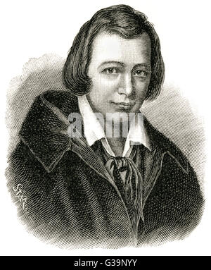 HEINRICH HEINE  German poet and critic as a young man       Date: 1797 - 1856 - Stock Photo