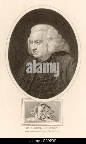 DR SAMUEL JOHNSON  English writer, lexicographer,  critic and conversationalist       Date: 1709-1784 - Stock Photo