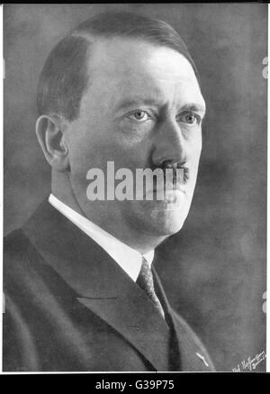 German politician and leader, ADOLF HITLER (1889-1945) .          Date: 1939 - Stock Photo