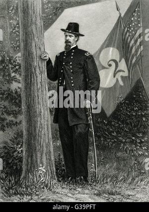 WINFIELD SCOTT HANCOCK  American military        Date: 1824 - 1886 - Stock Photo