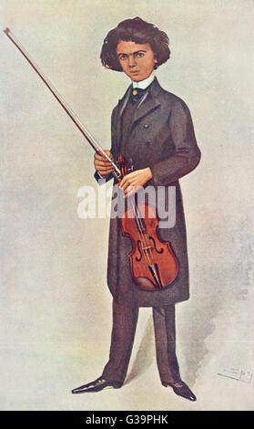 JAN KUBELIK  Czech-Hungarian violinist as a young man        Date: 1880 - 1940 - Stock Photo