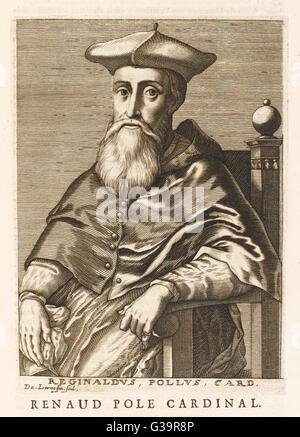 REGINALD POLE  (1500 - 1558) Cardinal and Archbishop  of Canterbury       Date: 1500 - 1588 - Stock Photo