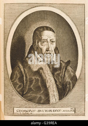 GEORGE BUCHANAN  Scottish humanist writer at the age of 76       Date: 1506 - 1582 - Stock Photo