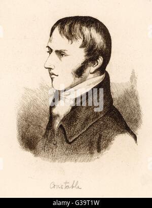 JOHN CONSTABLE  English painter as a young man       Date: 1776 - 1837 - Stock Photo