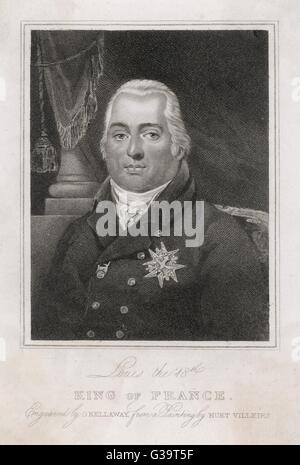 LOUIS XVIII OF FRANCE          Date: 1755 - 1824 - Stock Photo