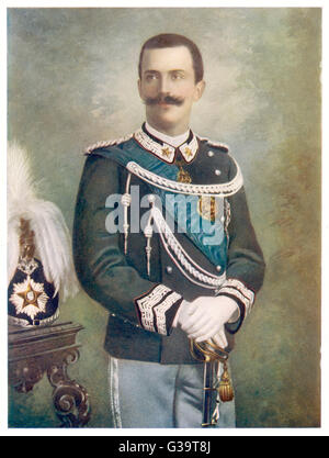 VITTORIO EMANUELE III  King of Italy  in 1901       Date: 1869 - 1946 - Stock Photo