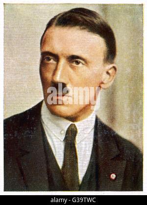 ADOLF HITLER  In 1923        Date: 1889 - 1945 - Stock Photo