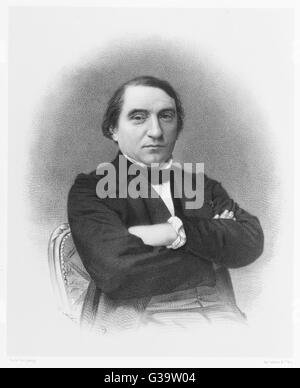 ERNEST RENAN  French writer and scholar,  best known for his  controversial Life of Jesus      Date: 1823-1892 - Stock Photo